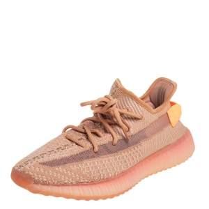 حذاء رياضي ييزي x أديداس 350 V2 قماش تريكو برتقالي بعنق منخفض مقاس 350 V2