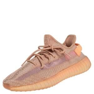 حذاء رياضي ييزي x أديداس كلاي بوست 350 في2 تريكو قطن برتقالي/ بيج مقاس 41.5