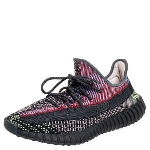 Yeezy x adidas Multicolor Knit Fabric Boost 350 V2 Yecheil Low Top Sneakers Size 44 2/3
