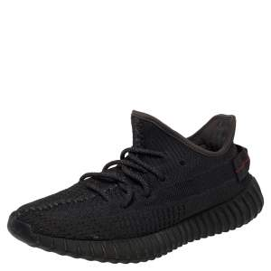 Yeezy x Adidas Black Knit Fabric 350 V2 Static Low Top Sneakers Size 41 1/3
