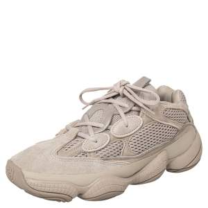 Yeezy x adidas Beige Suede And Leather Yeezy 500 Taupe Light Low Top Sneakers Size 40 2/3
