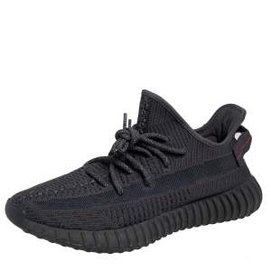 Yeezy x adidas Black Knit Fabric Boost 350 V2 Static Low Top Sneakers Size 43 1/3