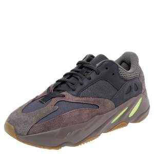 Yeezy x adidas Grey/Brown Mesh And Suede Mauve 700 Low Top Sneakers Size 42 2/3