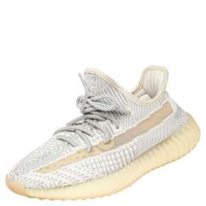 Yeezy x Adidas Grey Knit Fabric Boost 350 V2 Lundmark Sneakers Size 38