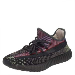Yeezy x adidas Multicolor Knit Fabric Boost 350 V2 Yecheil (Non Reflective) Low Top Sneakers Size 42 2/3