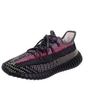 Yeezy x Adidas Multicolor Knit Fabric Boost 350 V2 Yecheil Sneakers Size 43 2/3