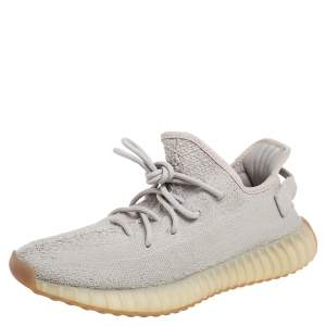 Yeezy x Adidas Grey Knit Fabric Boost 350 V2 Sesame Sneakers Size 42 2/3
