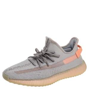 Yeezy x Adidas Grey Knit Fabric Boost 350 V2  Sneakers Size 46.5
