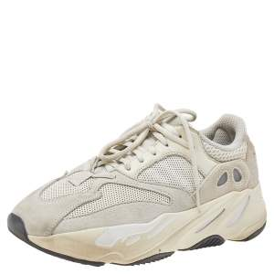 Yeezy x Adidas Cream Mesh, Leather, And Suede Boost 700 Analog Low Top Sneakers Size 39 1/3