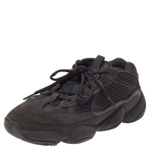 Yeezy x adidas Utility Black Suede And Mesh Yeezy 500 Low Top Sneakers Size 38 2/3