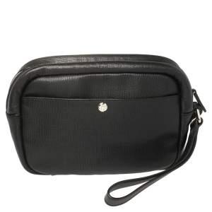 Yves Saint Laurent Black Leather Pouch