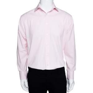 Yves Saint Laurent Pink Cotton Blend Long Sleeve Shirt M