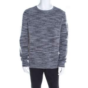 Zadig and Voltaire Marled Bicolor Wool Crew Neck Jeremy Fe Sweater XL