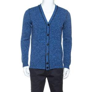 Zadig and Voltaire Blue Wool Knit Malt Cardigan S