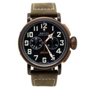Zenith Black Pilot Bronzo Type 20 Chronograph Men's Watch 45MM