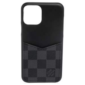 Louis Vuitton Black/Graphite Leather And Canvas 11 Pro Bumper Case