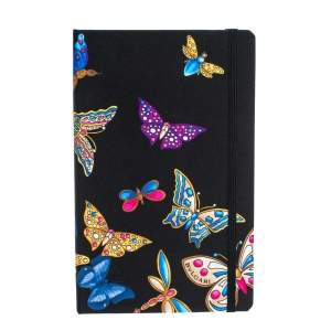 Bvlgari Black Butterfly Print Notebook