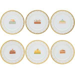 Bvlgari Porcelain Dessert Plate Set