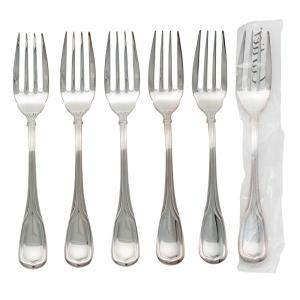 Cartier Silver Venittenne Salad Fork Set Of 6