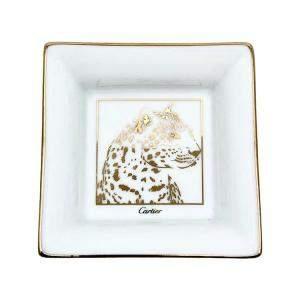 Cartier Panther Motif Porcelain Trinket Tray
