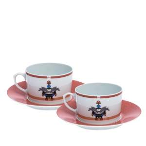 Cartier La Maison Venitienne Breakfast Cup with Saucer Set For Two
