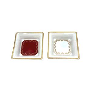 Cartier Rare Mini Porcelain Plate Set