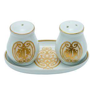 Dior Porcelain Salt & Pepper Shaker Set