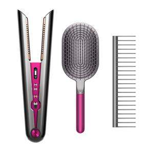 Dyson Corrale™ Straightener With Styling Set, Black Nickel/Fuchsia, Special Gift Edition (Available for UAE Customers Only)