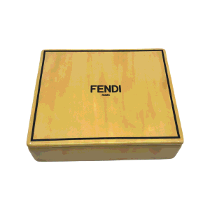Fendi Yellow Porcelain Plate