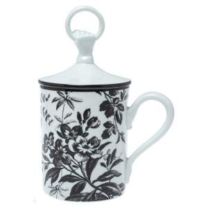 Gucci Black/White Herbarium Hand and Ring Mug