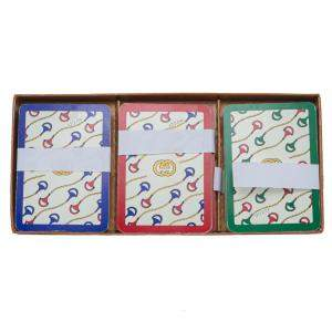 Gucci Rare Vintage 3 Playing Card Decks