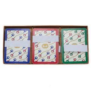 Gucci Rare Vintage 3 Playing Card Decks