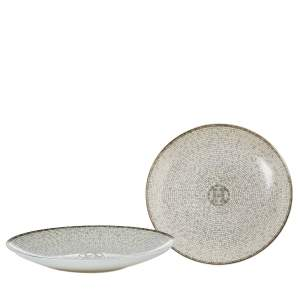 Hermes Mosaique au 24 Platinum Bread & Butter Plate Set
