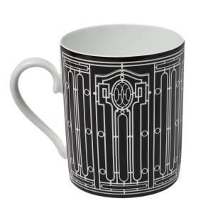 Hermès Black Porcelain H Deco Mug