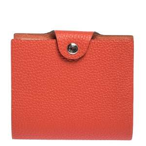 Hermes Capucine Togo Leather Ulysse Mini Notebook