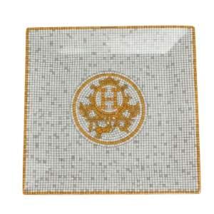 Hermes Gold Mosaique Au 24 Square Plate
