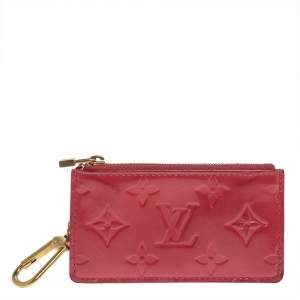 Louis Vuitton Framboise Monogram Vernis Key Pouch