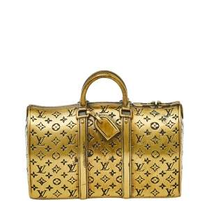 Louis Vuitton Antique Gold Tone Keepall Paperweight
