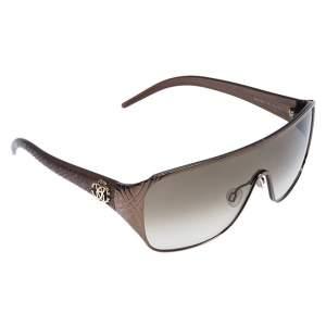 Roberto Cavalli Gold/Brown Gradient Icario Shield Unisex Sunglasses