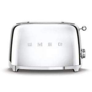 Smeg 50's Retro Style Aesthetic 2 Slice Toaster, Chrome (Available for UAE Customers Only)