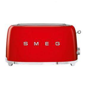 Smeg 50's Retro Style Aesthetic 4 Slice Toaster, Red (Available for UAE Customers Only)