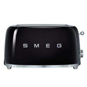 Smeg 50's Retro Style Aesthetic 4 Slice Toaster,Black (Available for UAE Customers Only)
