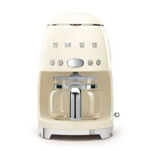 ماكينة تحضير قهوة سميج طراز رترو الخمسينات أسثيتيك فلتر تنقيط، كريمية (متاح لعملاء دولة الإمارات العربية فقط)