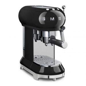 Smeg 50's Retro Style Aesthetic Espresso Coffee Machine, Black (Available for UAE Customers Only)