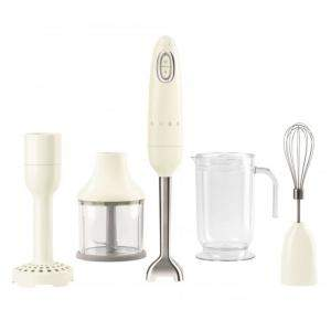 Smeg 50's Retro Style Aesthetic Hand Blender with Accessories, Cream (Available for UAE Customers Only)