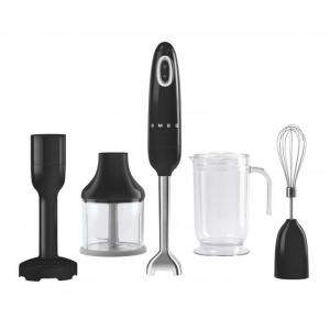 Smeg 50's Retro Style Aesthetic Hand Blender with Accessories, Black (Available for UAE Customers Only)