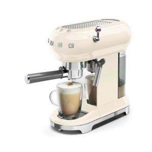 Smeg 50's Retro Style Aesthetic Espresso Coffee Machine,Cream (Available for UAE Customers Only)
