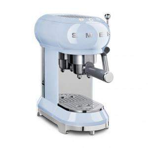 Smeg 50's Retro Style Aesthetic Espresso Coffee Machine, Pastel Blue (Available for UAE Customers Only)