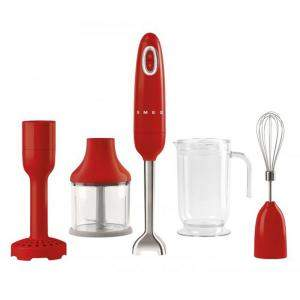 Smeg 50's Retro Style Aesthetic Hand Blender with Accessories, Red (Available for UAE Customers Only)