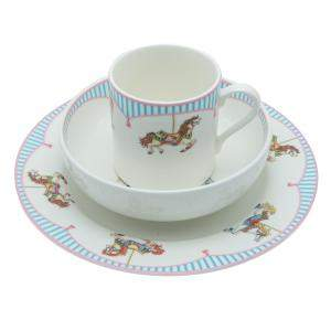 Tiffany & Co. Carousel Porcelain Kids Plates & Cup Set
